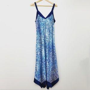 Oscar de la Renta Blue Printed Dress